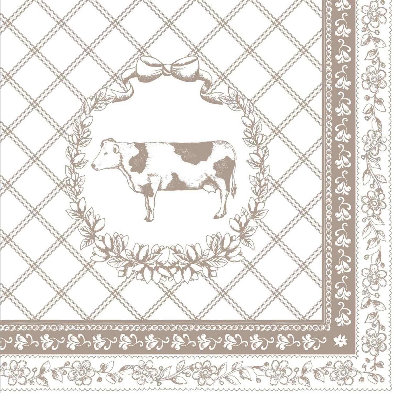 Clayre & Eef TAP73 N The Animal Parade 20 servilletas de Papel –  servilletas –  Natural ca. 13 x 13 en