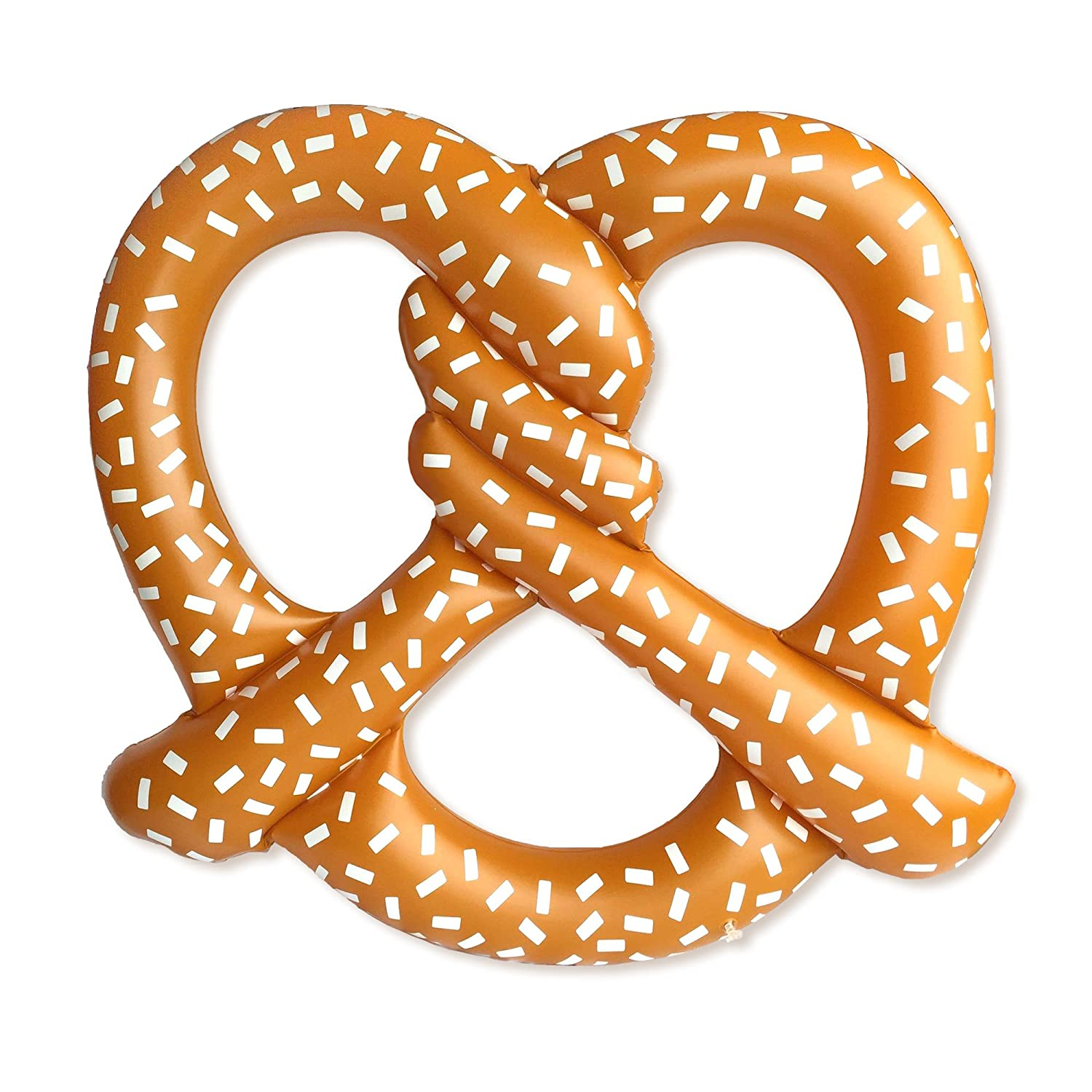 Giant Inflatable Pretzel Pool Float - Summer Fun for The Beach or Pool, Over 5 Feet Wide! Includes Patch Kit Play Platoon