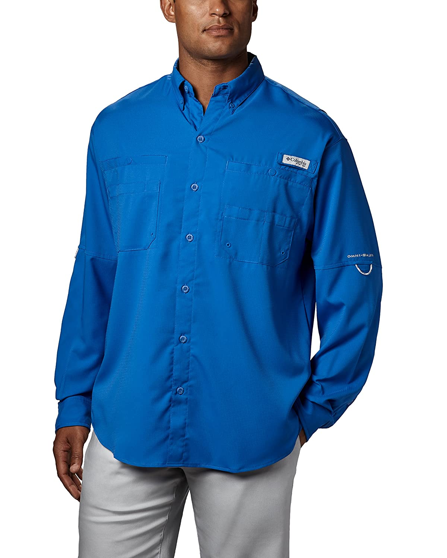 UPF 40 Sun Protection Columbia Mens PFG Tamiami II Long Sleeve Shirt Wicking Fabric