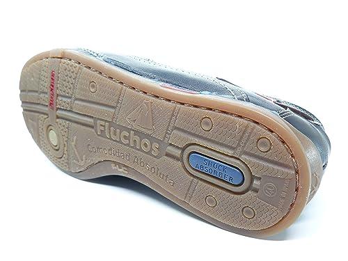 Zapato casual hombre FLUCHOS elasticos laterales en piel azul marino 7580 - 53n: Amazon.es: Zapatos y complementos