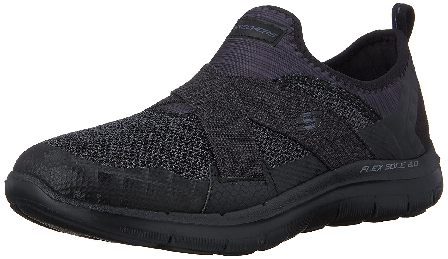 Skechers Women's Flex Appeal New Image Sneaker B01DBWGCMI 8 B(M) US|black / black