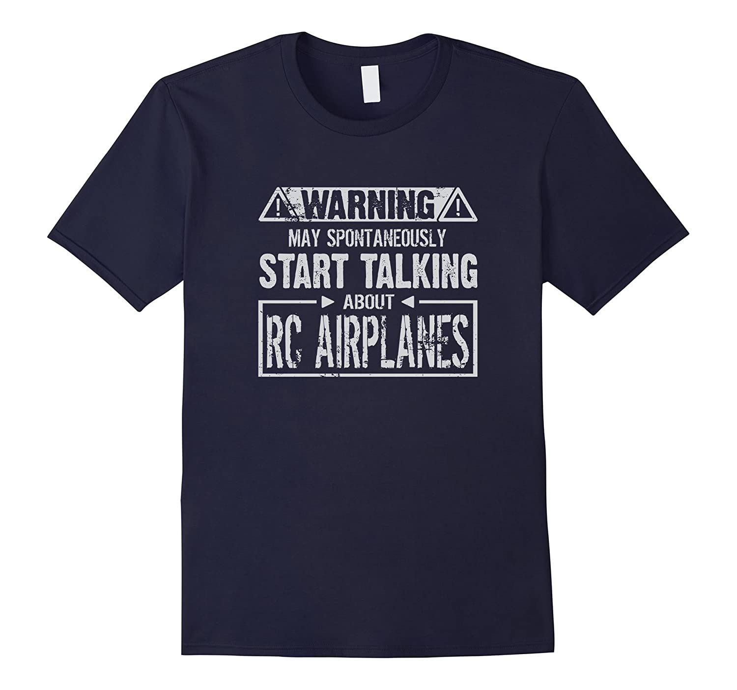 Warning May Start Talking About RC Airplanes T-Shirt-TH