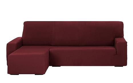 Martina Home Tunez Funda Sofá para Chaise Longue En Diseño Moderno, Tela, Burdeos, 240 a 280 cm