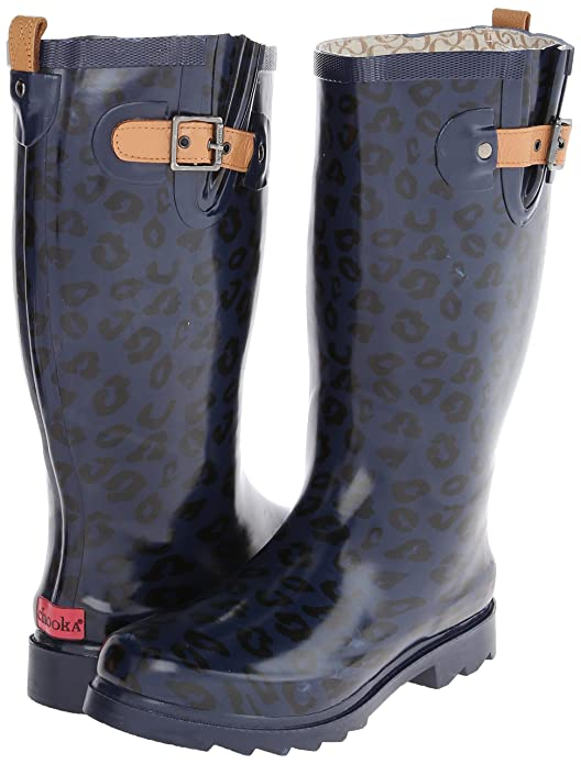 a9652a6fefa6 Amazon.com | Chooka Women's Top Solid Leopard Rain Boot | Mid-Calf