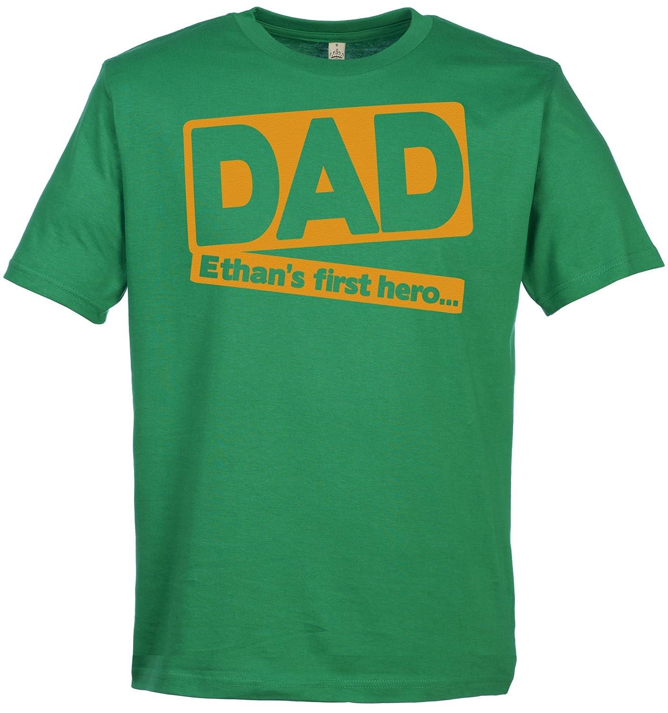 SR - CUSTOM Dad\'s First Hero Herren T-Shirt - Papa Geschenk ...