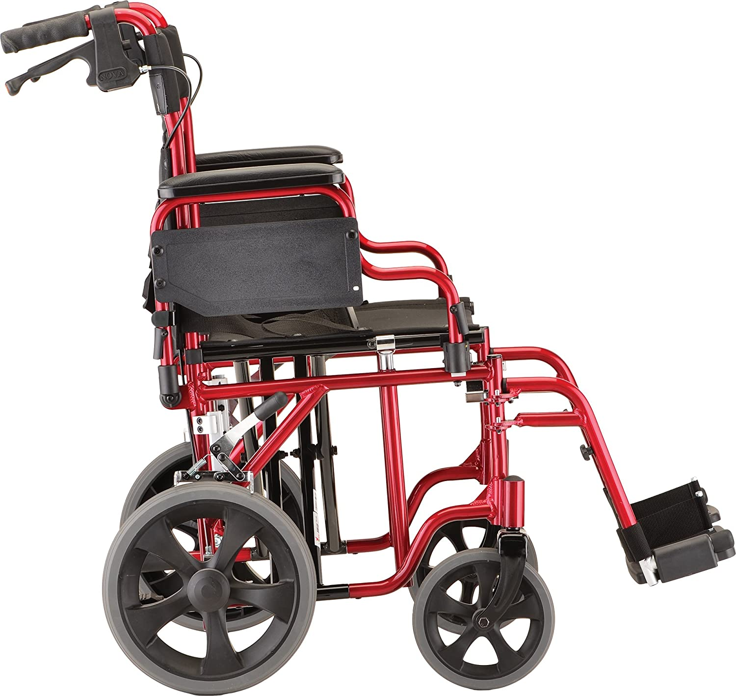 Transport chair amazon - Amazon Com Nova Medical Products 22 Heavy Duty Transport Wheelchair Red Health Personal Care