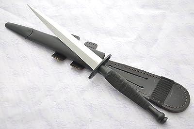 J Nowill & Sons Fairbairn-sykes Black Commando Polished Blade Knife