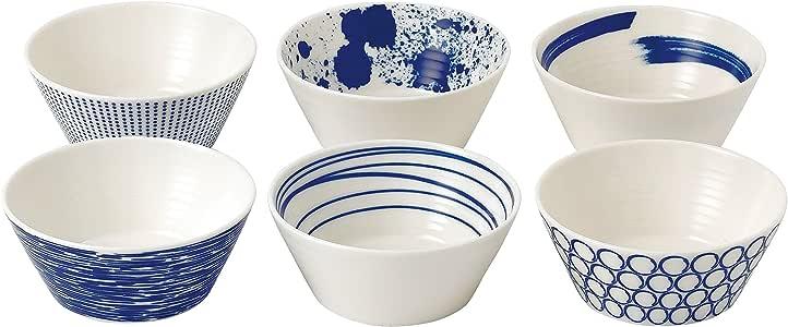 Royal Doulton Pacific Tapas Bowls, 4.3-Inch, Blue, Set of 6