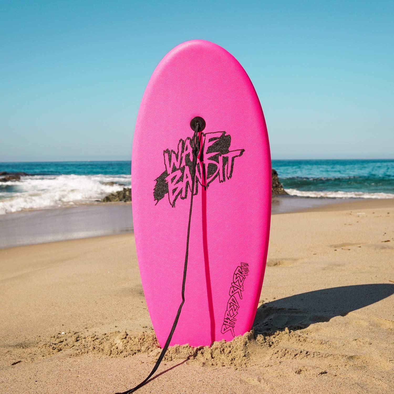 Wave Bandit Shred Schlitten Mini Surfbrett Neon Pink 94/cm
