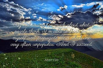 Amazoncom Albert Ellis Famous Quotes Laminated Poster Print