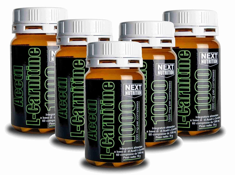 Acetil L-carnitina quema grasa 1000 mg | 5 paquetes gr 78 60 tabletas | 1000 mg de acetil l carnitina por tableta adelgazante quemador de grasa ...