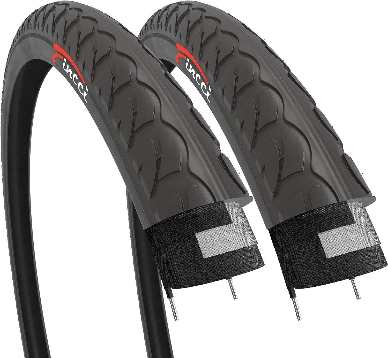 Fincci Par Carretera montaña híbrida neumático para Bicicleta Cubiertas 26 x 1 3/8: Amazon.es: Deportes y aire libre