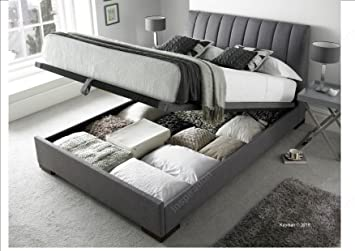 Incredible Inspiration Beds Kaydian Lanchester 5Ft 150Cm X 200Cm King Size Artemis Elephant Grey Linen Fabric Ottoman Storage Bed Pabps2019 Chair Design Images Pabps2019Com