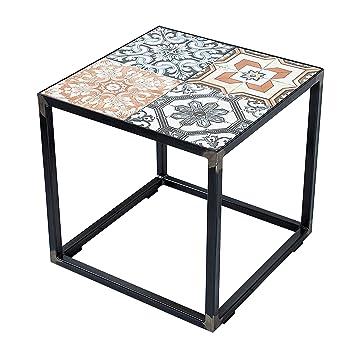 Design Beistelltisch MARRAKESCH Mit Echten Orientalischen Keramik Fliesen Tisch Couchtisch Orient