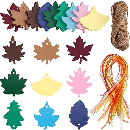 Christmas Leaf Name.Amazon Com Boao 180 Pieces Maple Leaf Craft Paper Tags