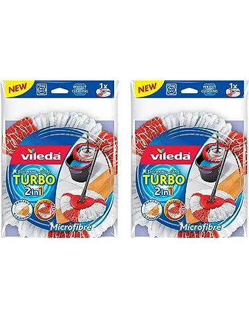 Vileda Easy Wring & Clean Turbo 2 en 1 Mopa Microfibra cabeza