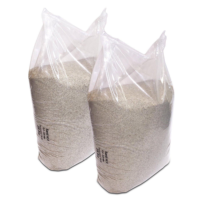 /0,8/mm grano streusand 2/x 25/kg de arena cuarzo 0,4/