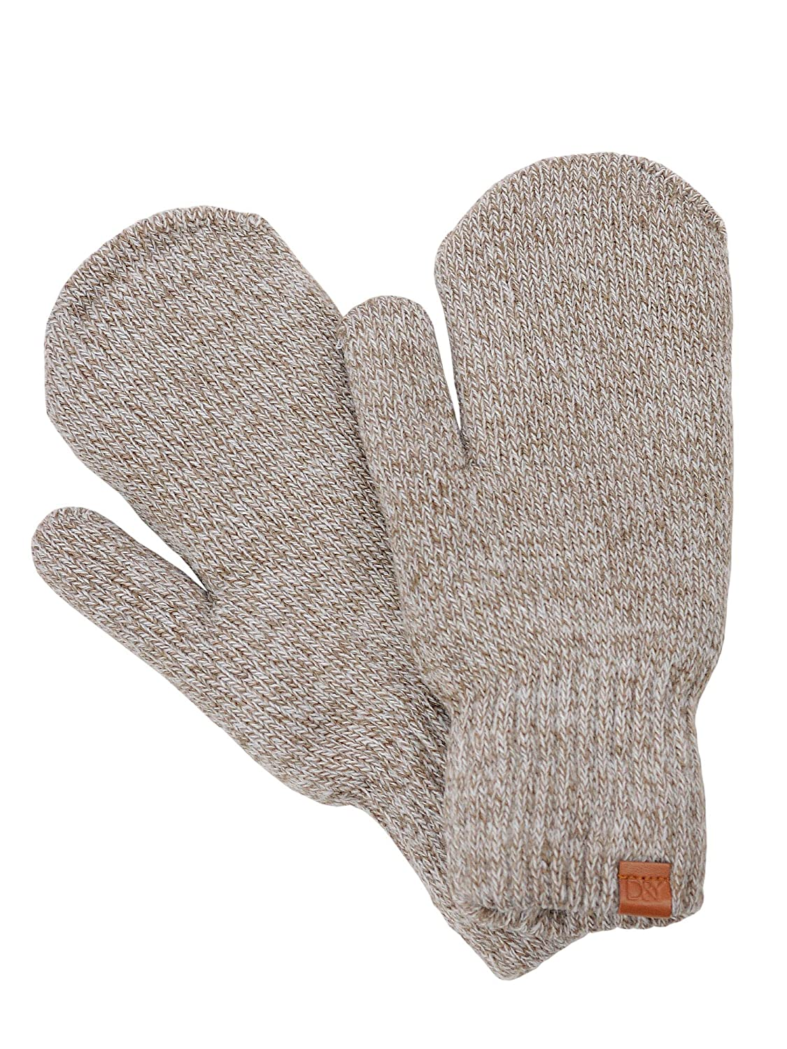 D& Y Women's Soft Cozy and Warm Fuzzy Lining Two Tone Mittens GWMT0104-BK