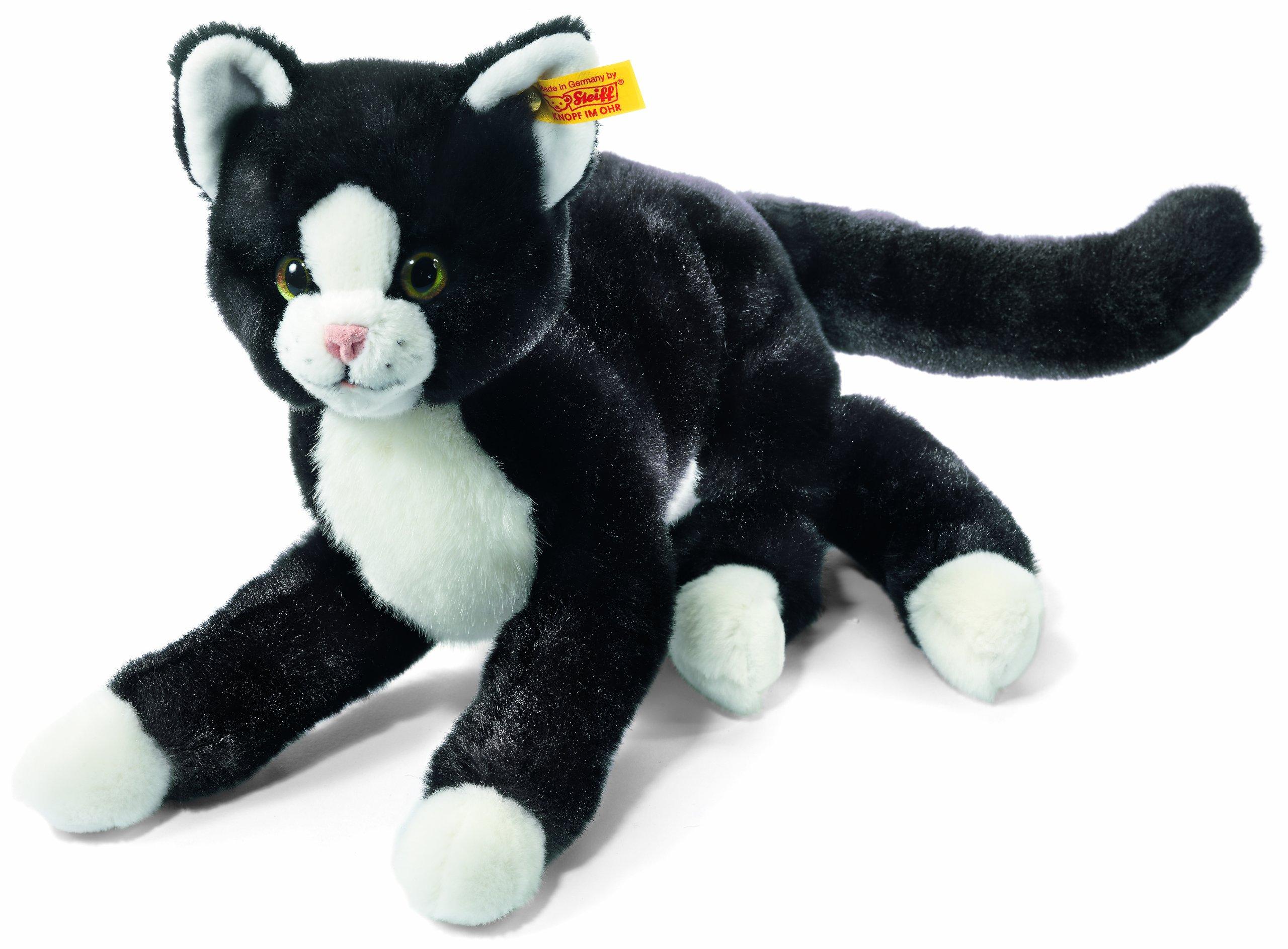 Steiff 099366 Mimi Cat Plush Animal Toy, Black/White by Steiff