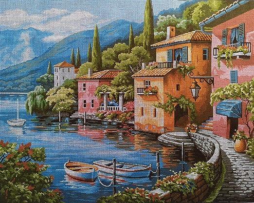 Amazon Com Hudemas Needlepoint Kit Italian Landscape 20x16in