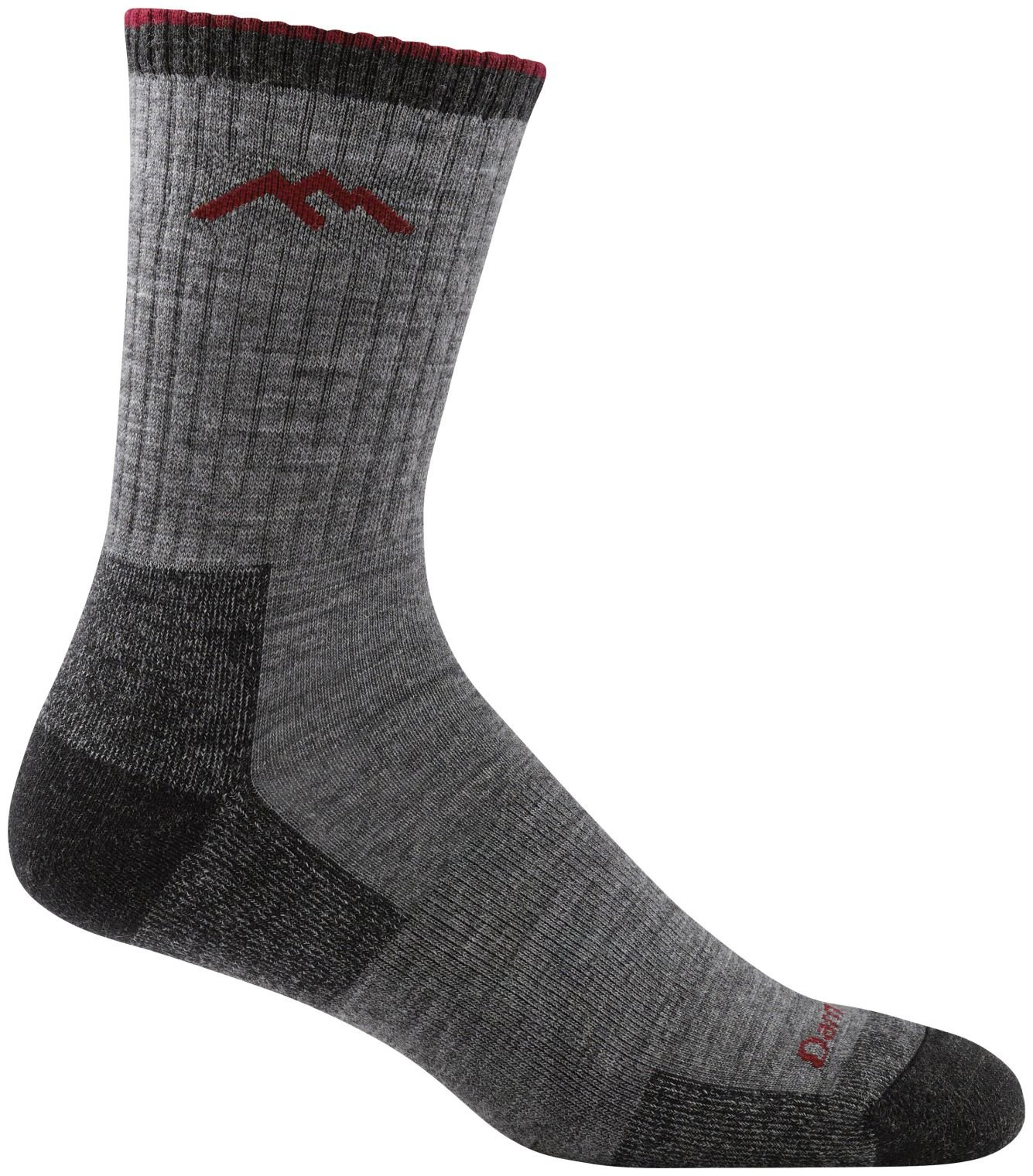 Darn Tough Vermont Men's Hiker Micro Crew Cushion Socks, Charcoal, Large by Darn Tough