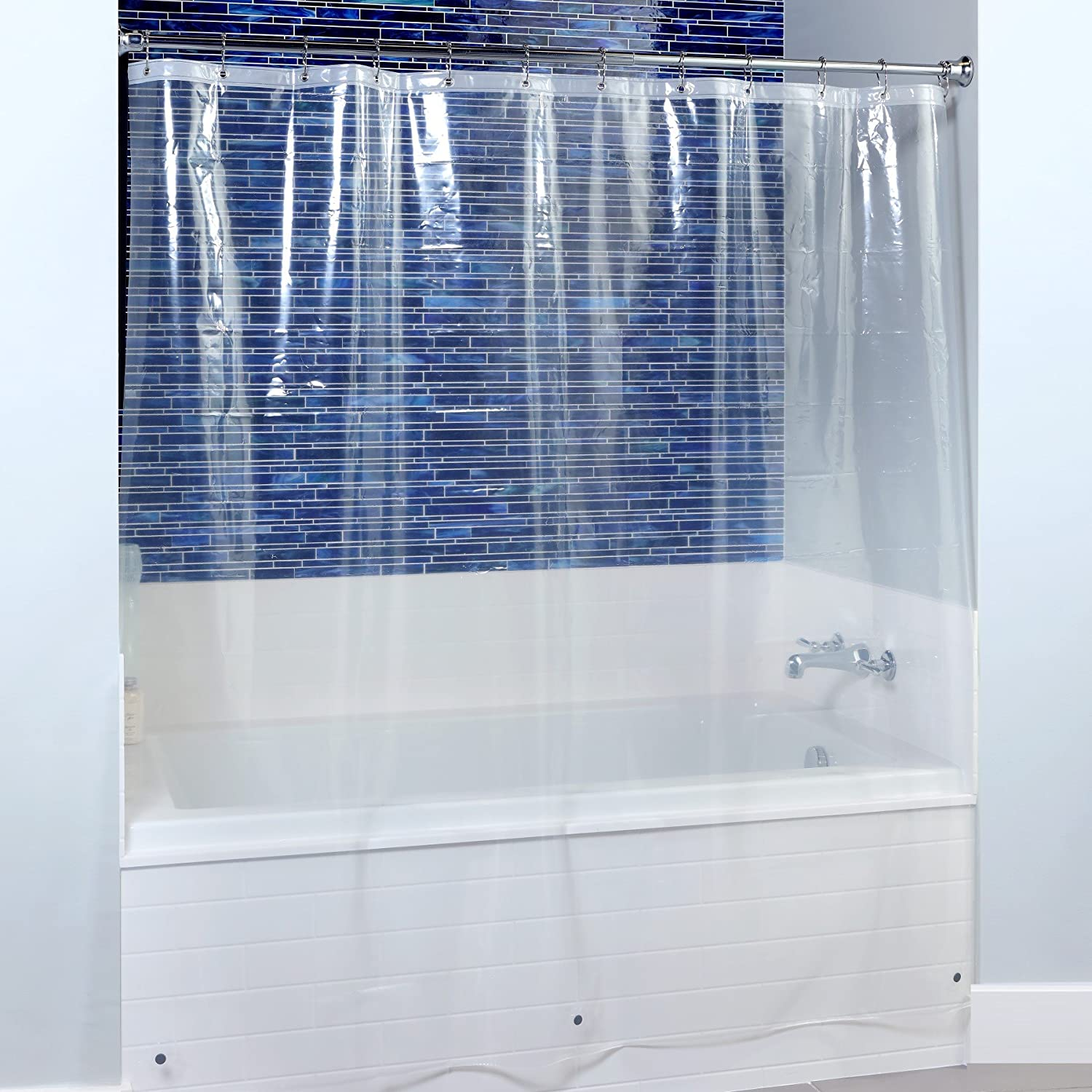 extra wide shower curtain for clawfoot tub. Amazon Com  82 X 74 Mildew Resistant Extra Wide PEVA Shower Liner With Microban In Clear Home Kitchen