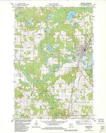 Amazon Com Wisconsin Maps 1982 Spooner Wi Usgs Historical