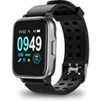 $45 » Updated 2019 Version Smart Watch for Android iOS Phone, Activity Fitness Tracker Watches Health Exercise Smartwatch with Heart Rate, Sleep Monitor Compatible with Samsung Apple iPhone for Men Women