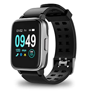 Updated 2019 Version Smart Watch for Android iOS Phone, Activity Fitness Tracker Watches Health Exercise Smartwatch with Heart Rate, Sleep Monitor Compatible with Samsung Apple iPhone for Men Women