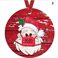 Double Sided Ceramic Ornament, Christmas 2020 The One Where We were Quarantined, Christmas Keepsake Unique Hanging…