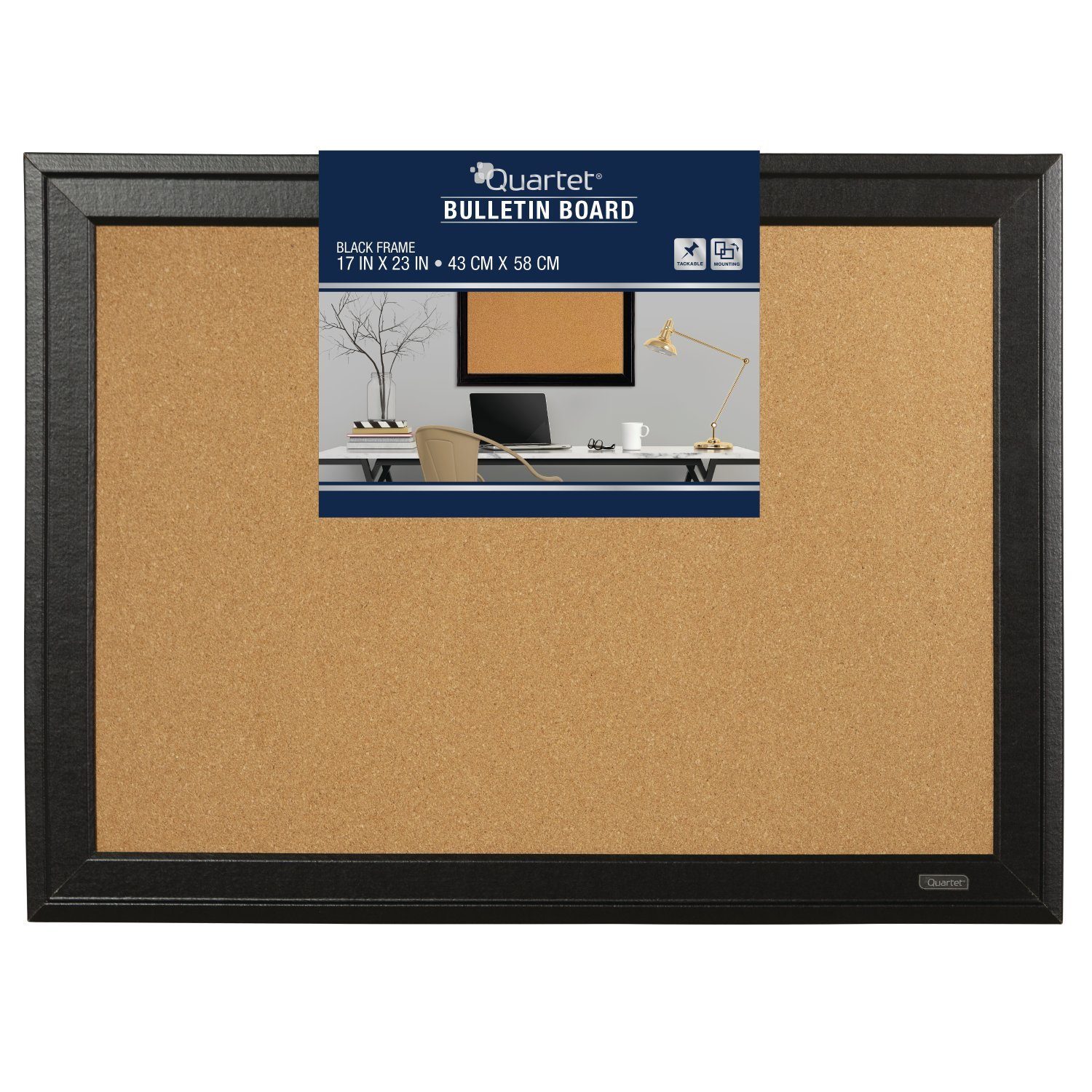 Amazon quartet cork bulletin board 11 x 17 inches home amazon quartet cork bulletin board 11 x 17 inches home dcor corkboard black frame 79279 corkboard office products altavistaventures
