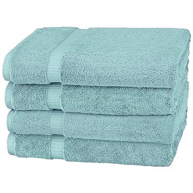 Pinzon by Amazon Collection Pinzon Organic Cotton Bath Towel (4-Pack) Spa Blue