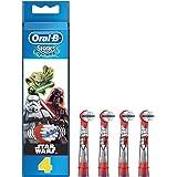 Braun Oral-B Stages Power Testine di Ricambio per Spazzolino Elettrico Oral-B, con Personaggi di Star Wars, 4 Pezzi