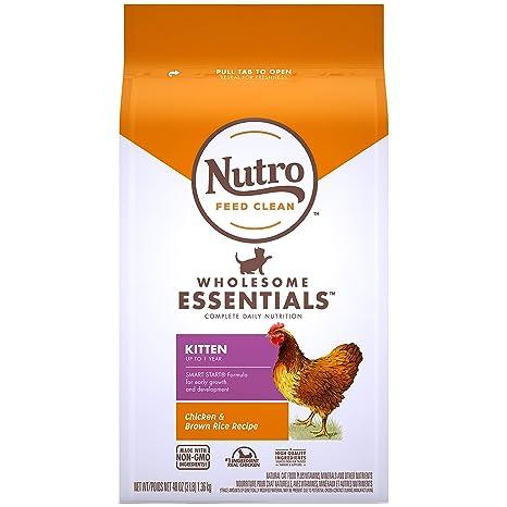Nutro - Receta de arroz para gatito natural de 9 kg: Amazon.es ...