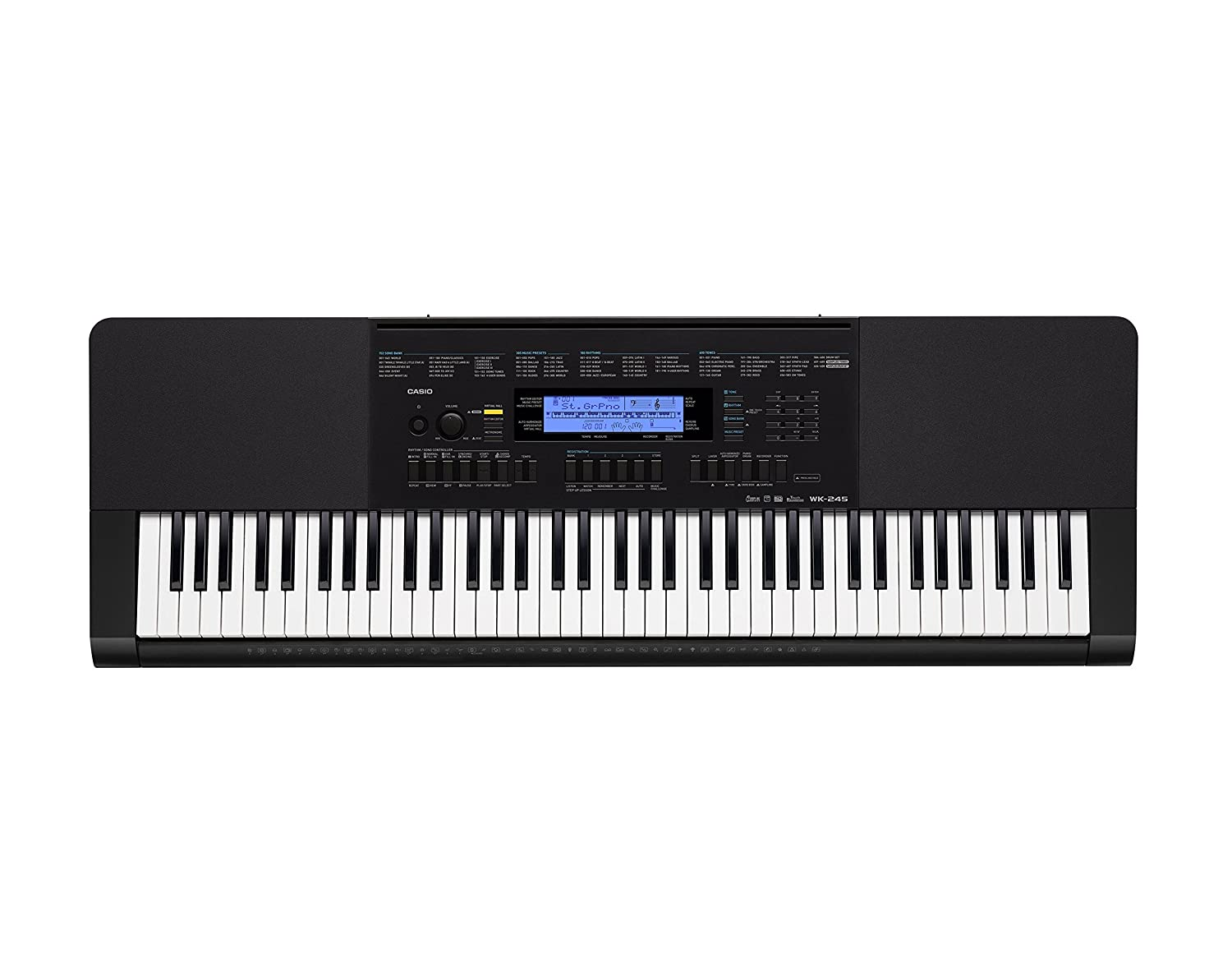 Amazon.com: Casio WK-245 76-Key Touch Sensitive Keyboard with Power Supply:  Musical Instruments
