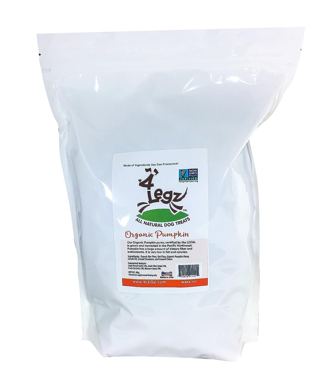3.5 lb 4Legz Organic Pumpkin All Natural Dog Treats, 3.5 Pound