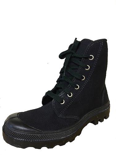 e6060efec89eec Palladium pampa Style Chaussures Baskets Hi pour femme – Noir/Noir, Vegan -  Noir