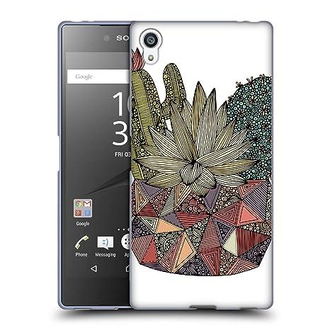 Head Case Designs Offizielle Valentina Kaktus Blumig Soft Gel Hülle für Sony Xperia Z5 Premium/Dual