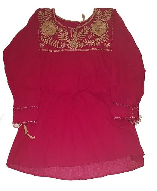 Amazon.com: Ambar Chanty - Blusa bordada con diseño de ...