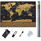 Amazon Price History for:Scratch Off Map Of The World With States – Detailed World Map Includes US States and All Country Flags - Perfect Gift for Travelers with Accessories Set - Large Size 32¼ x 23½ inches by Mode Relax