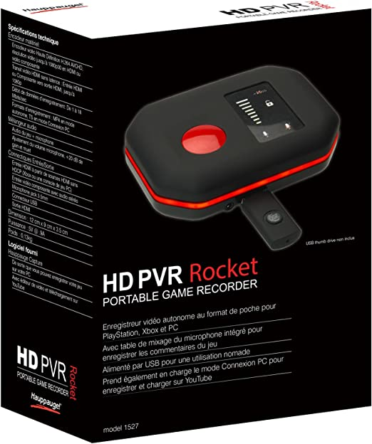 differently buy cheap official store Hauppauge HD PVR Rocket Carte Tuner TV Externe HD Noir: Amazon.fr ...