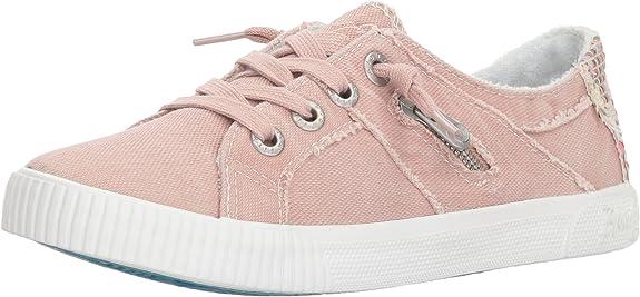 Blowfish Malibu Women's Fruit Sneaker, Dirty Pink Smoked Canvas, 10 M US