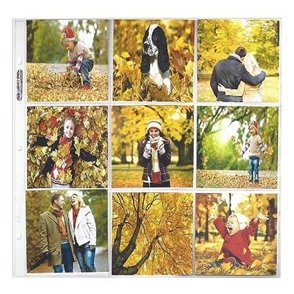 amazon com ultra pro 12 x 12 size 9 pocket page for 4 x 4