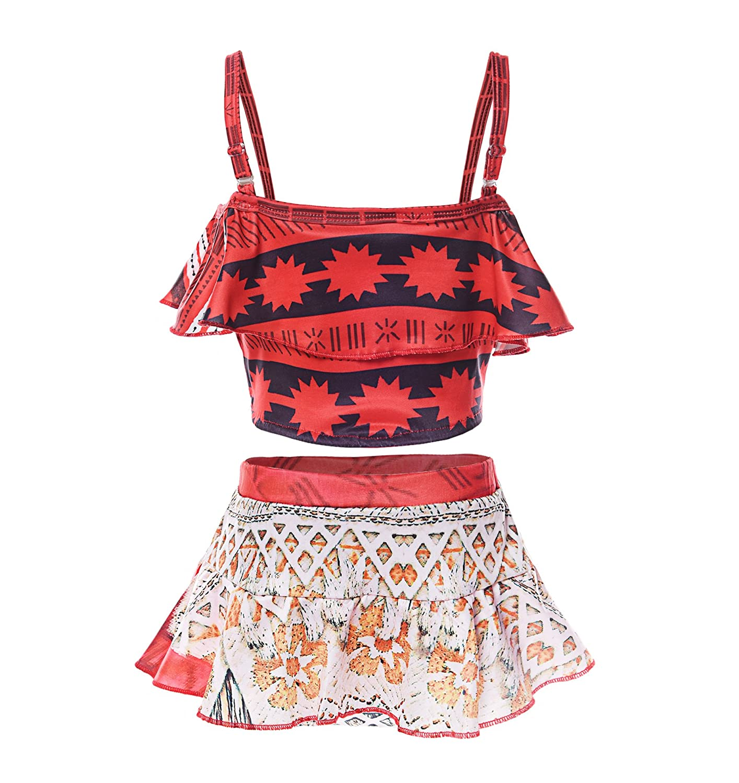 JerrisApparel Girl Swimwear Two-Piece Swimsuit Tankini Bathing Suit