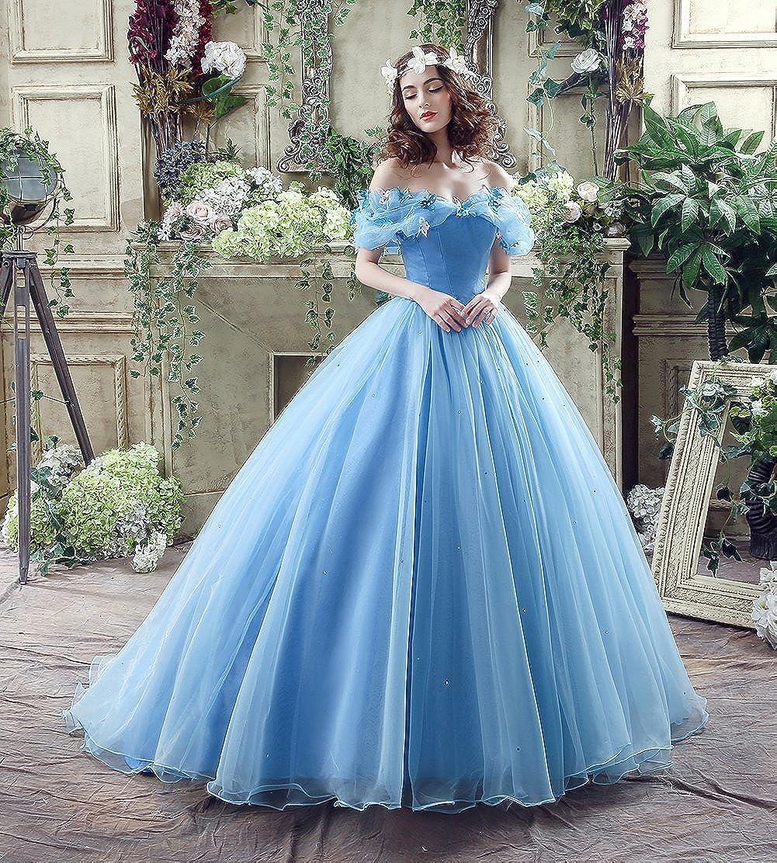 b7ea69ab5dd Engerla - Robe longue en organza pour femme - Pour le cosplay ou un bal   Amazon.fr  Vêtements et accessoires