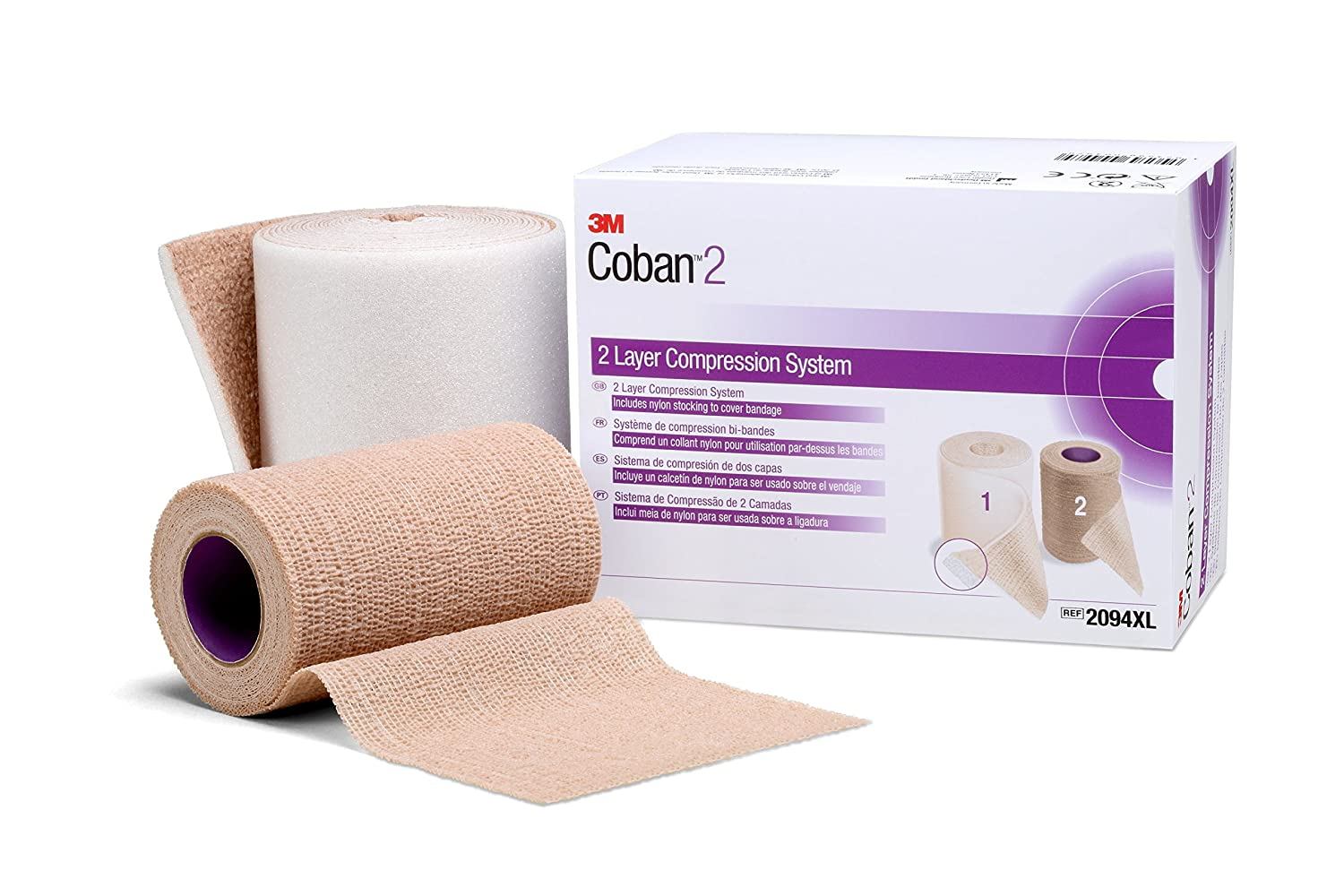 Image of 3M 20096 Coban 2 Layer Compression System (Pack of 8) Bandages & Bandaging Supplies