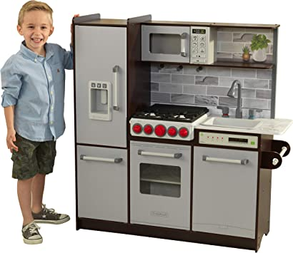 KidKraft- Cocina de juguete de madera, con luces, sonidos y ...