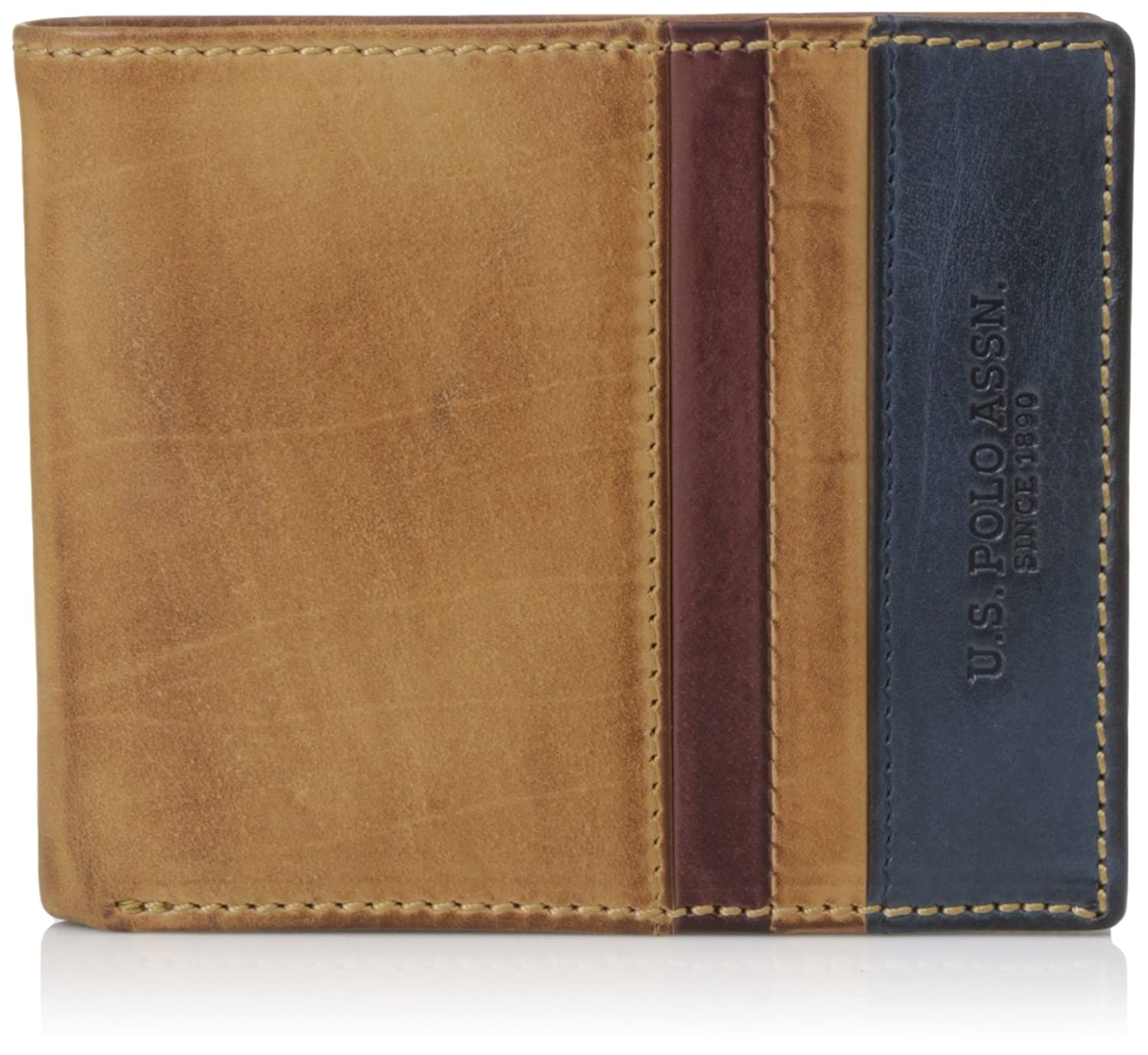 d458e789af US Polo Association Tan Navy Men s Wallet (USAW0574)  Amazon.in ...