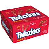 TWIZZLERS Twists, Strawberry Flavored  Licorice Candy, 180-Count Box (Pack of 2)