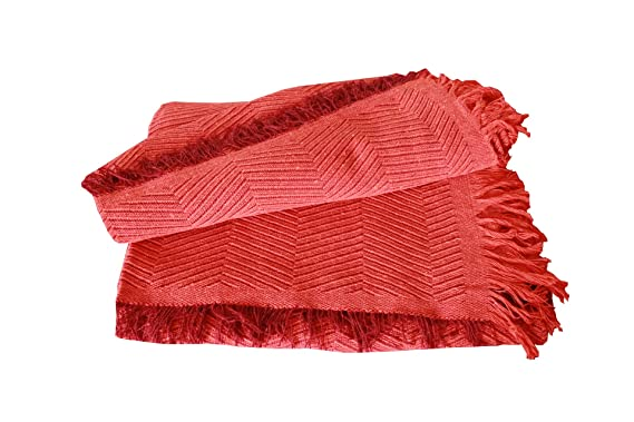 MercuryTextil Colcha Multiusos/Cubre sofás/Sobrecamas y colchas/Manta para Sofa 2 Plazas O Cama 90-105cm (Naranja, 180 x 260 cm)